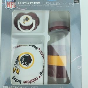 Redskins Baby NFL NIB Gift Collection Bottle, Bib,